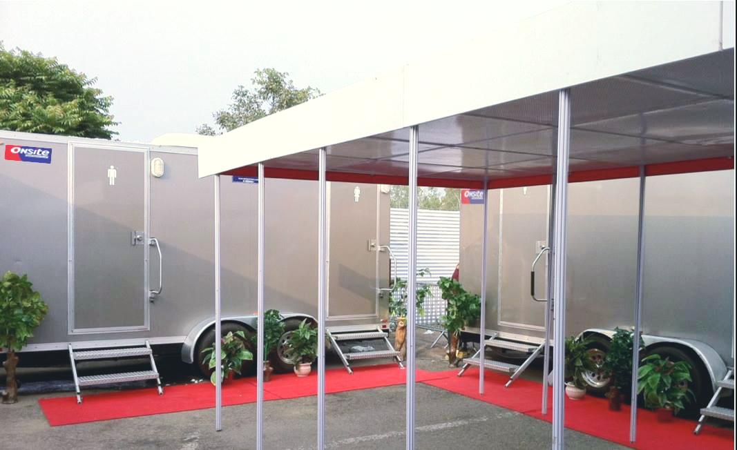 install portable restrooms