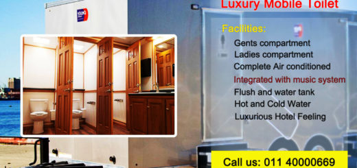 luxury mobile toilet