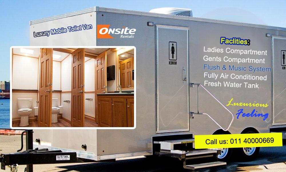 luxury mobile toilet van