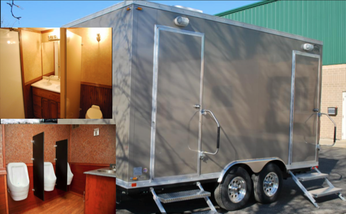 Portable luxury sanitation and restroom for rent and sale